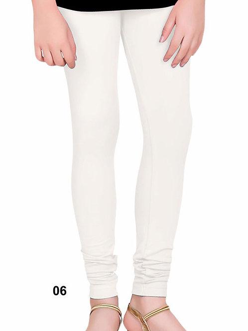 06 White 4 Way Lycra Leggings