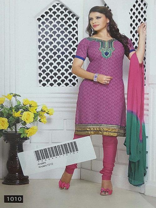 1010 Lavender Designer Printed Salwar Suit