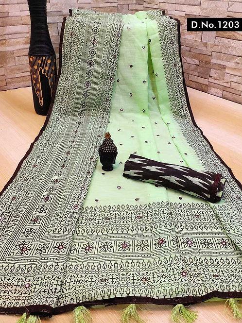 1203 Aaradhya Linen Sarees