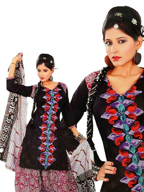 1322 Black and Magenta Salwar Suit
