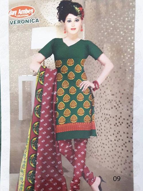 07 Green Designer Printed Salwar Suit