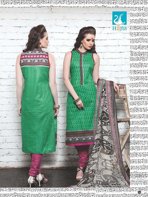 04Green and DarkPink Cotton Satin Pakistani Suit