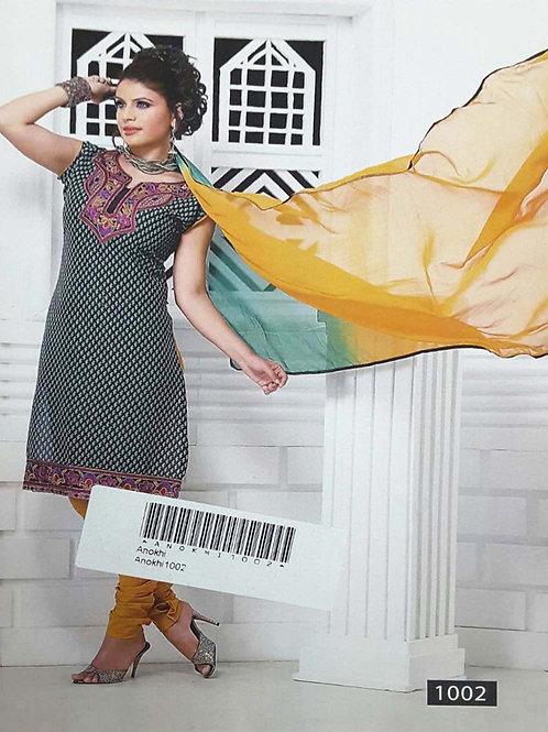 1002 Black Designer Printed Salwar Suit