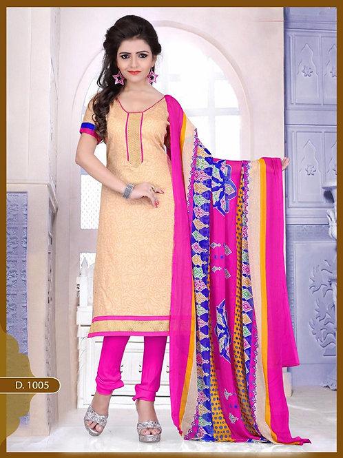 1005 Designer Ivory Chudidar Suit