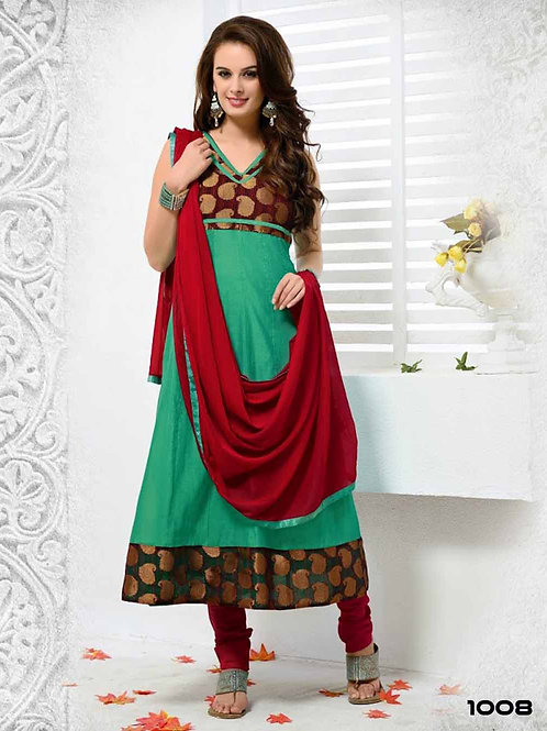 1008 Sea Green Designer Anarkali Suit