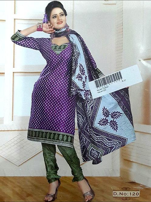 120 Purple Printed Salwar Suit