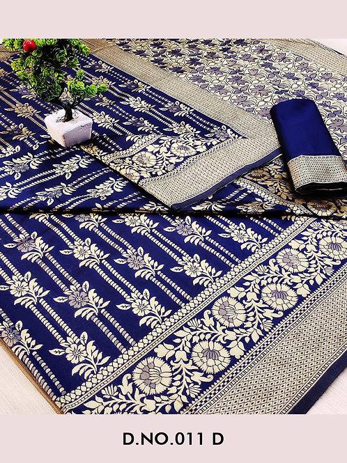 011D Banarasi Cotton Saree