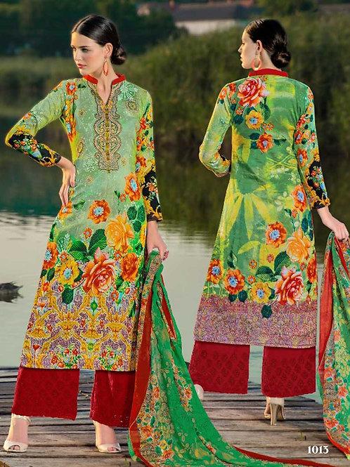 1013 Green Designer Palazzo Suit