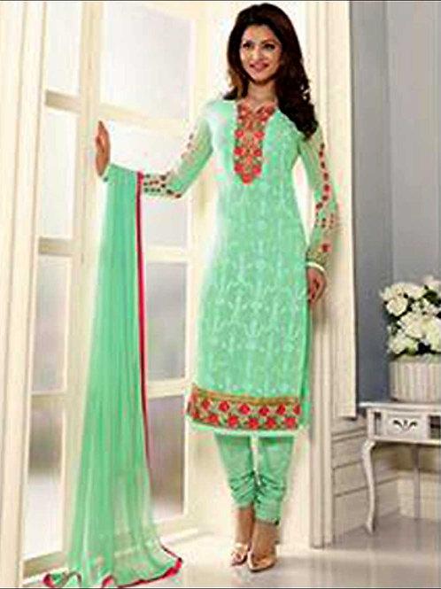 12403LightGreen Designer Fancy Exclusive Function Wear Straight Suit