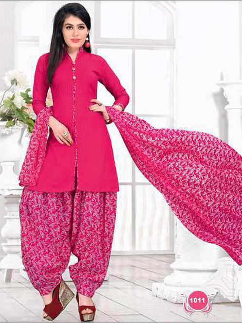 1011Deep Pink Casual Wear Designer Suit