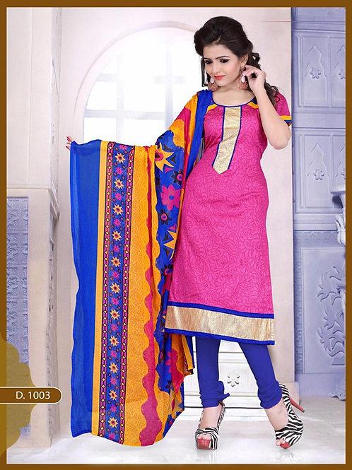 1003 Designer Magenta Chudidar Suit