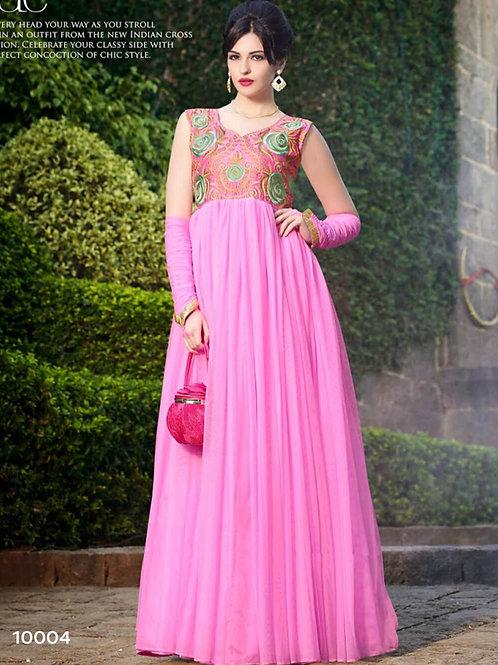 10004 Pink Wedding Wear Gown