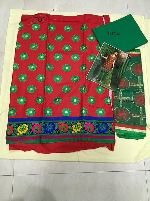 1011 RED AND GREEN STRAIGHT SUIT