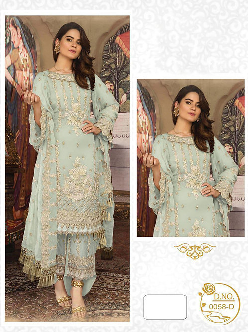 0058D Embroidered Pakistani Style Suit