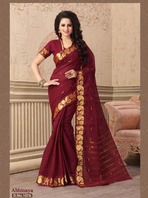 1076 Designer Pure Compact Saree