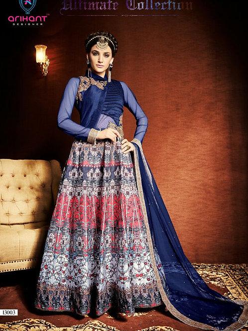 13003DarkBlue Exclusive Fancy Designer Anarkali Suit
