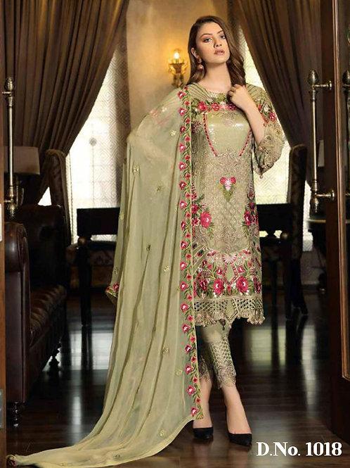 1018 Designer Pakistani Suit