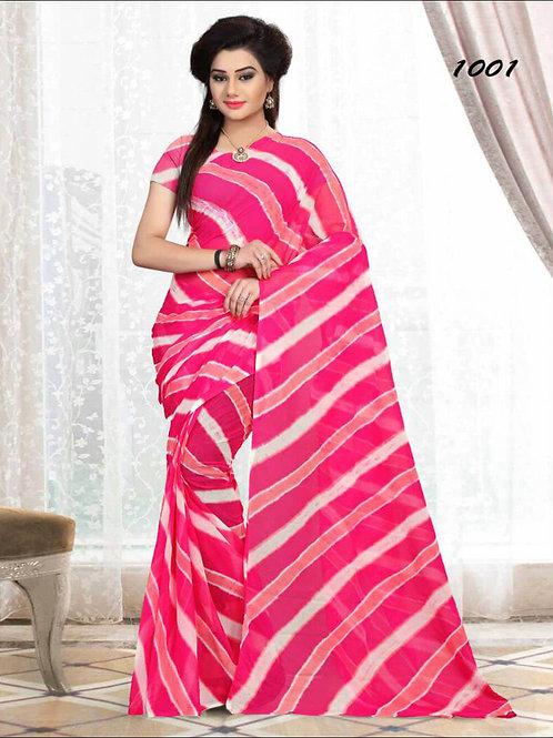 1001 Magenta Printed Laheriya Saree