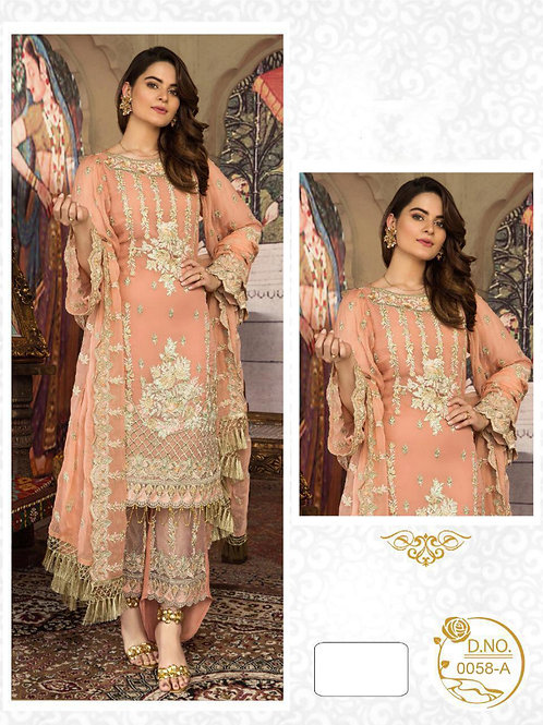 0058A Embroidered Pakistani Style Suit