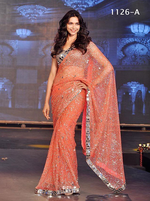 1126A Party wear Georgette Sequence Saree