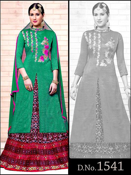 1541Green Designer Ethnic Wear Lehenga Choli