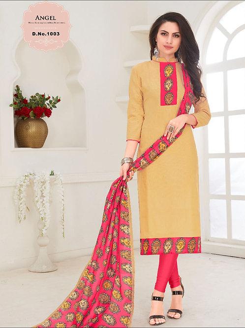 1003 Khaki Designer Salwar Suit