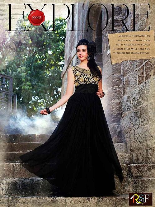 10002 Black Wedding Wear Gown