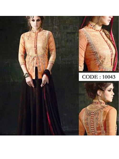 10043Orange Exclusive Designer Anarkali Suit