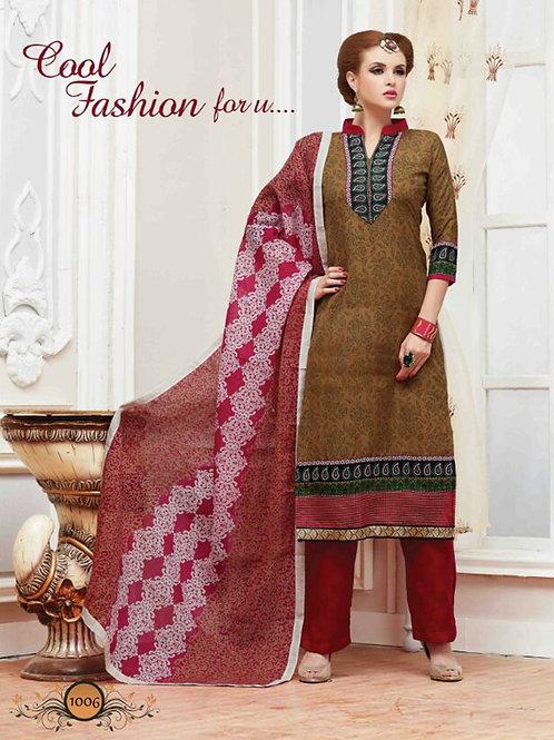 1006Brown Latest Fancy Traditional Wear Designer Suit