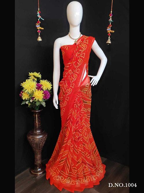 1001D Rakhi Bandhej Saree