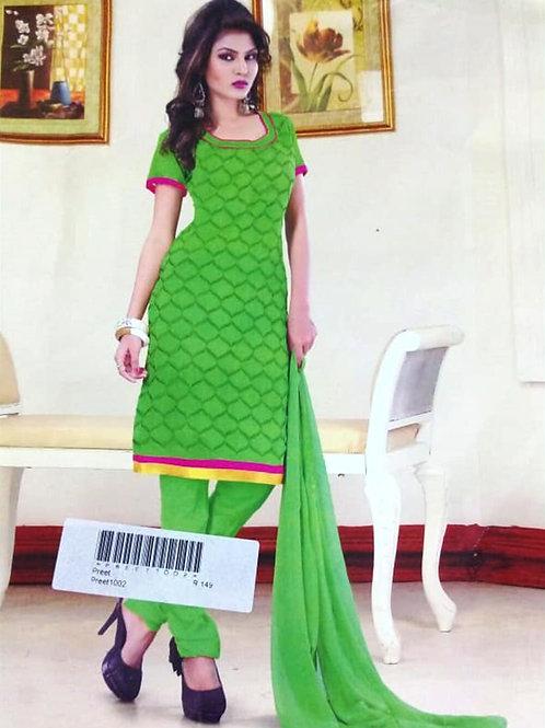 1002 Parrot Green Designer Daily Wear Salwar Suit