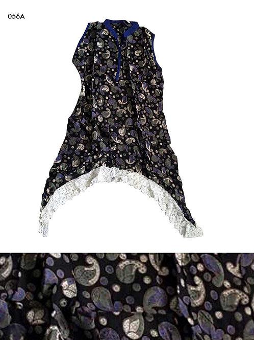 056A Black Designer Cotton Kurtis