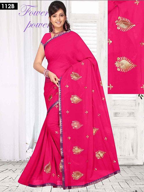 112B Deep Pink Designer Saree