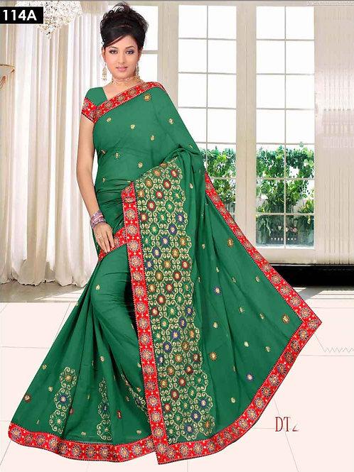 103C Green Designer Saree