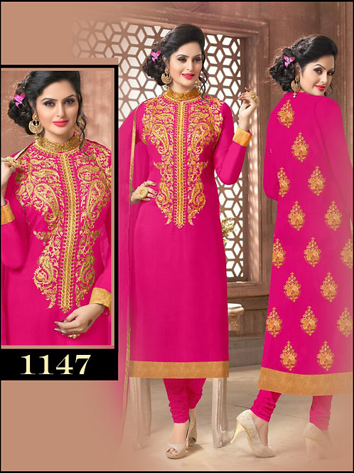 1147Magenta Latest Occasional Wear Straight Suit