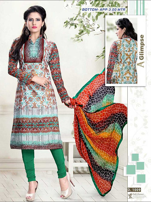 1009A Red Black and Green Pure Straight Suit