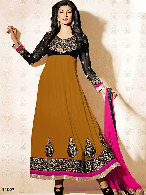 11009 Brown Designer Anarkali Suit