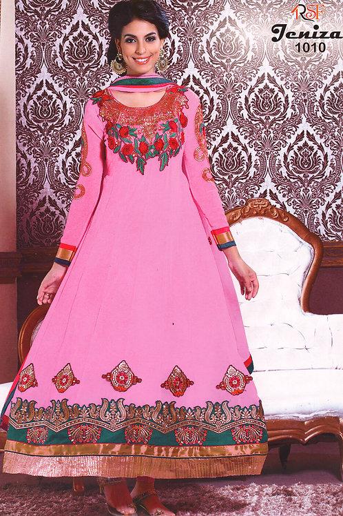 1010 Pink Designer Anarkali Suit