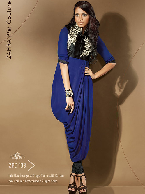 103 Pink Blue Exclusive Fancy Party Wear Designer Kurti