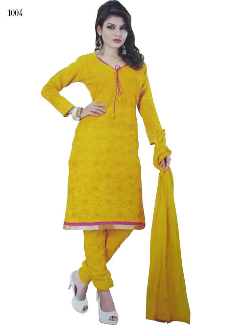 1004 Yellow Designer Salwar Suit