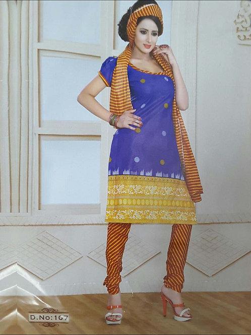 107 Royal Blue Printed Salwar Suit