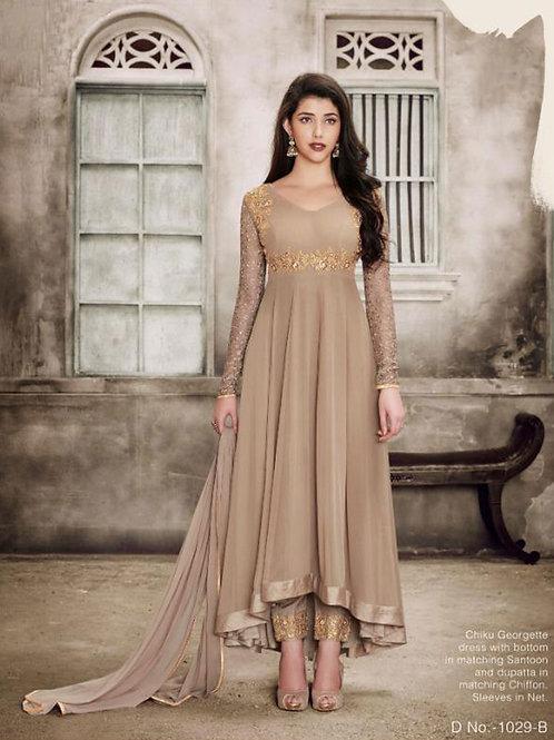 1029B Designer Georgette Anarkali Suit