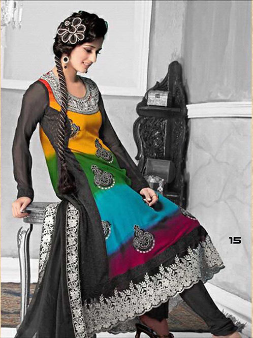 15 Black and Multicolor Designer Anarkali Suit