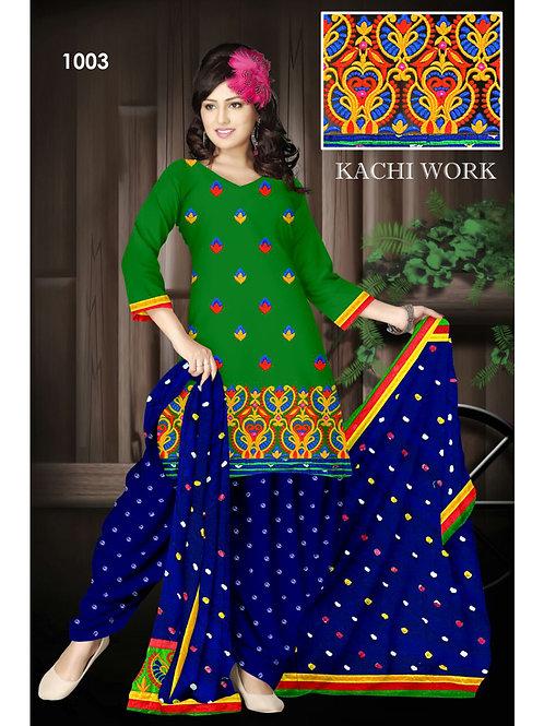 1003Green Designer Exclusive Fancy Daily Wear Cotton Salwar Suit