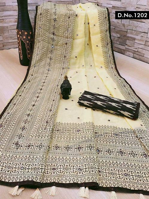 1202 Aaradhya Linen Sarees