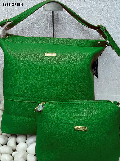 1633 Green Stylish Combo Women Handbag
