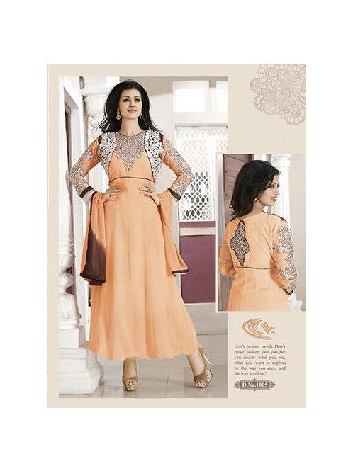 1005Light Orange Party Wear Georgette Anarkali Suit