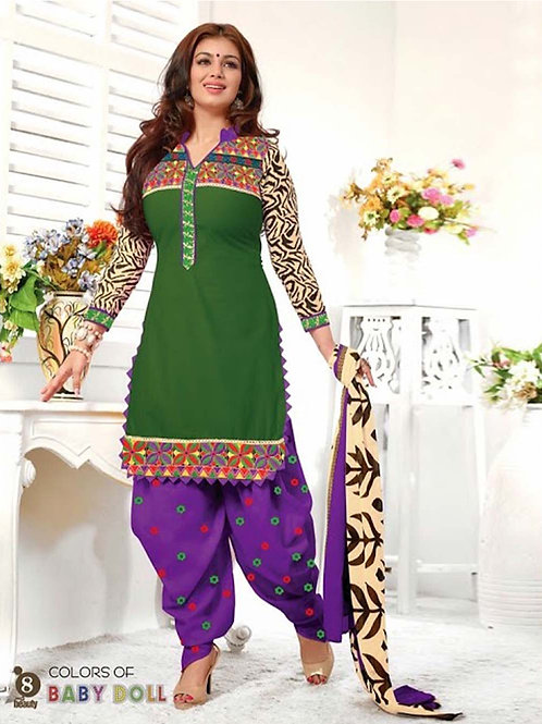08Green and Violet Patiala Suit