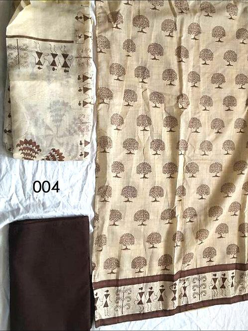 004 Beige Color Traditional Printed Salwar Suit