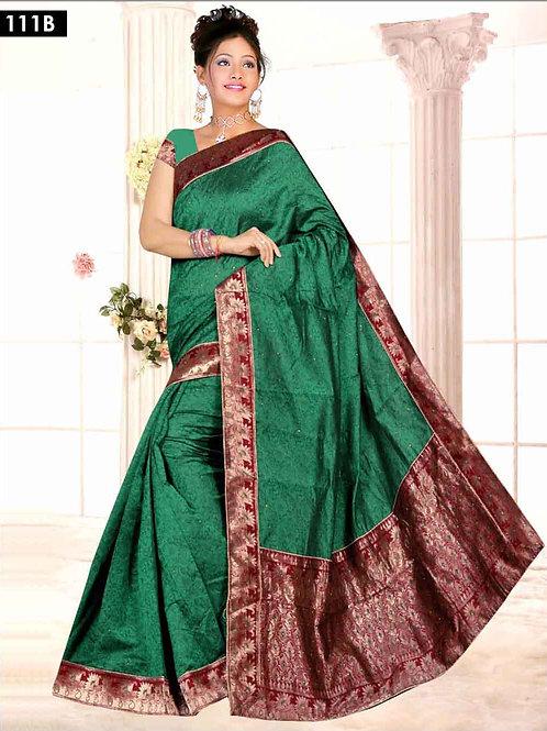 111B Green Designer Saree